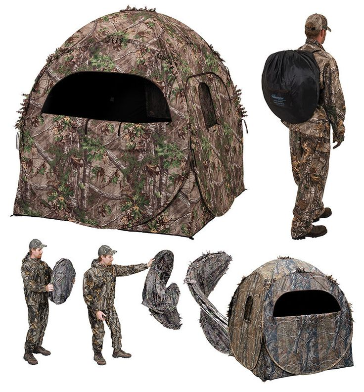 Ameristep Doghouse Hunting Blind Winter Ground Outhouse Deer Firearm Bow Hunters #HuntingCamping