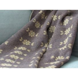 Blanket with Flowers - Brown