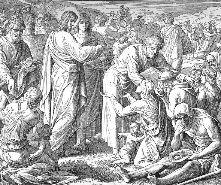 Bilder der Bibel – Wundersame Fütterung – Julius Schnorr von Carolsfeld   – Bilblische Bilder und Zeichnungen
