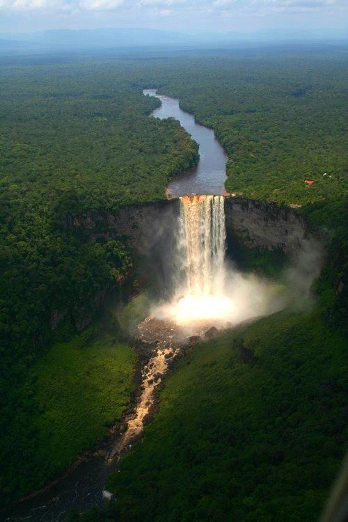 Kaieteur Falls - a high-volume waterfall on the Potaro River in central Guyana, Potaro-Siparuni region.