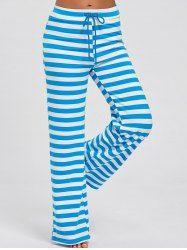 Pantalones anchos de pierna con rayas
