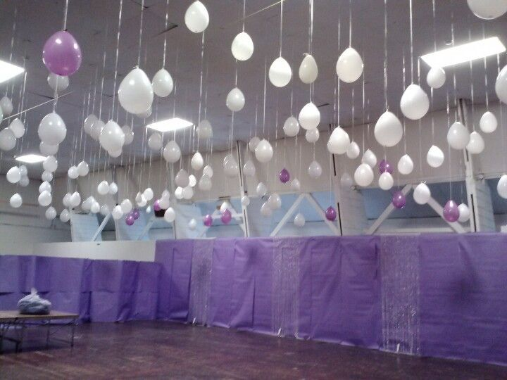 Image result for white lights tulle spring school dance decorations