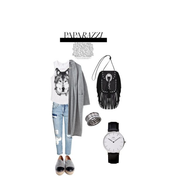 Wolf #fromnorah# by fromnorah on Polyvore featuring Lauren Manoogian, H&M, Chanel, Yves Saint Laurent and Bulgari