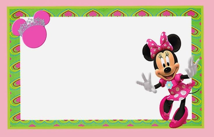 Minnie Mouse in Pink: Free Printable Invitations, Labels or Cards.