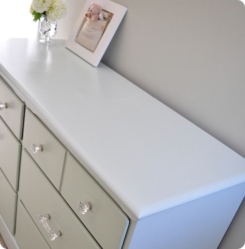 A pretty good article about painting furniture. As a paint store product specialist i agree with all the prep steps and the overall process. For any furniture or cabinets that get a lot of use your best bet is to use an oil based paint and skip the varnish step. Oil based paints will hold up much better than latex/water based varnish.