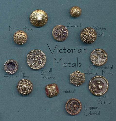 Victorian Metal Buttons by YaddaYaYa, via Flickr