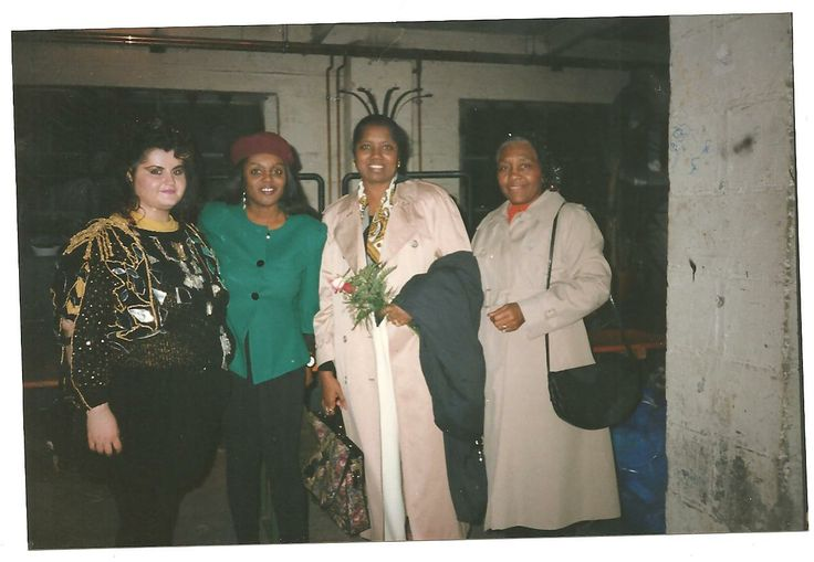 Singer & Actress Zula Sevasti Tsomaridou Backstage with Brenda Halle and his Mather  Black Magig Night Konzert