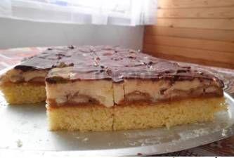 Piškotové těsto  Cukr krupice 180 g Cukr vanilkový 1 balení Kypřící prášek 1 balení Mouka hladká 140 g Mouka polohrubá 140 g Olej 1 dl Vejce 5 ks Voda 1 dl