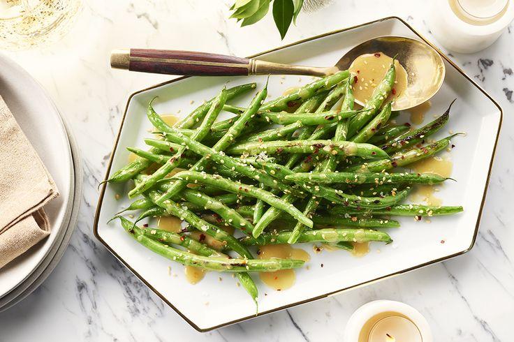 Haricots verts sautés au sésame et au miso