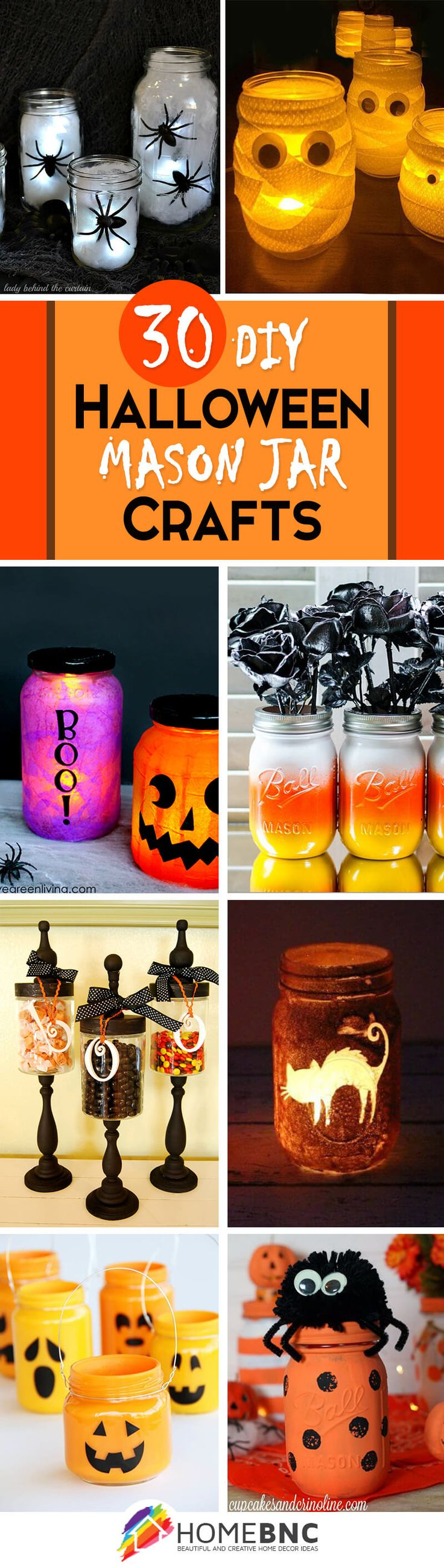 DIY Mason Jar Halloween Craft Ideas