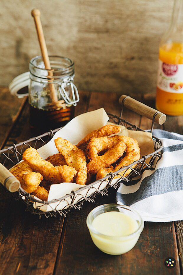 Mozarella sticks rustic food photography