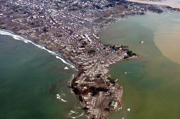 Peninsula of Acep Meulaboh in Northern Sumatra after the December 2004 Tsunami