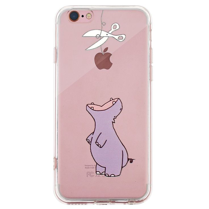 """iPhone 7 Clear Case, PC Back/Soft TPU Whimsical Patterned Clear Cover Case for iPhone 7 (Purple Hippo). 2 in 1: Back Pannel is hard PC material + Soft TPU frame. Fit your iPhone 7 4.7"""" perfectly. Amusing whimsical design on the case makes your phone different and eyes-catching. The edge of the case is higher than your phone screen to protect it from dropping better. With dust-proof plug: lengthen your phone working life."""