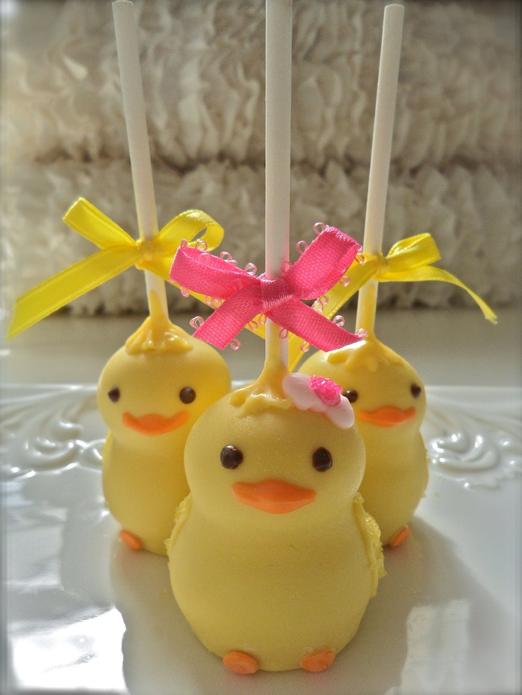 Chick Cake Pops Images : 12 Baby Chick Baby Shower Favors Gender Reveal Party Cake ...