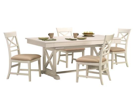 Plantation Cove 5 PC White Dinette   Value City Furniture #ValueCityPinToWin