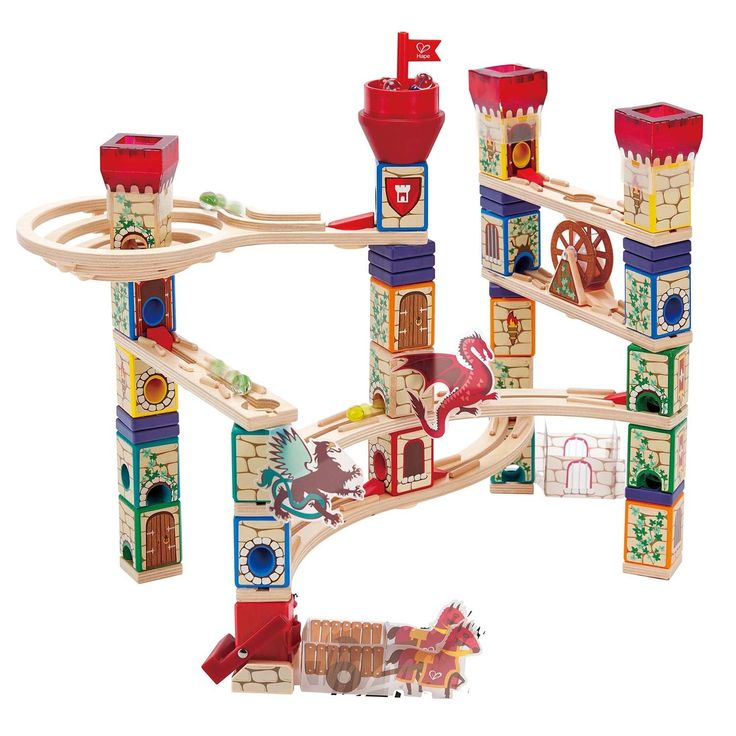 I have been eyeing this one off for a little while now, and so have two little aspiring knights and a princess! What fun to find this under the tree! #EntropyWishList #PinToWin  Quadrilla Marble Run - Medieval Quest 217 piece set 2