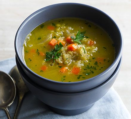 This warming and budget-friendly vegetarian soup is perfect packed in a flask for lunch. It's also easy to double the quantities and freeze half for later
