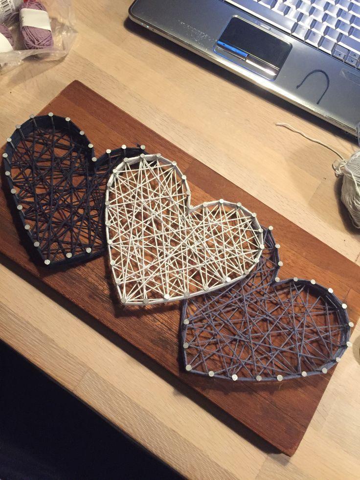 String art 3 hearts – #Art #hearts #String – #Art …