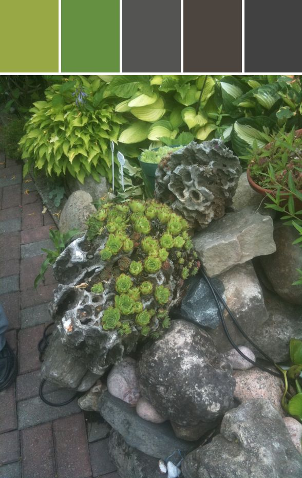 Garden Inspirations Designed By Colleen M Cole via Stylyze #colourpalettesilove
