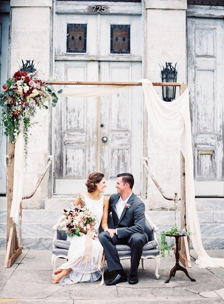 Elegant Fall Wedding Inspiration at Historical wedding venue