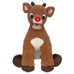 """Rudolph the Rednosed Reindeer--build a bear! his nose lights up and he plays """"Rudolph the Rednosed Reindeer"""""""