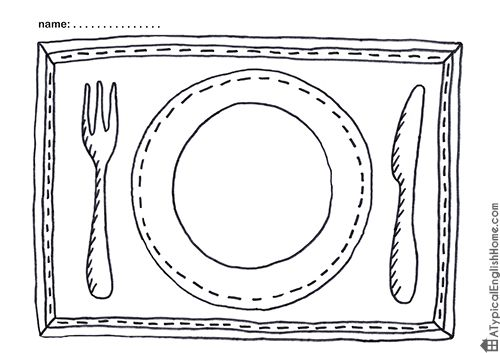 A Typical English Home: Printable Placemats For Kids To Color