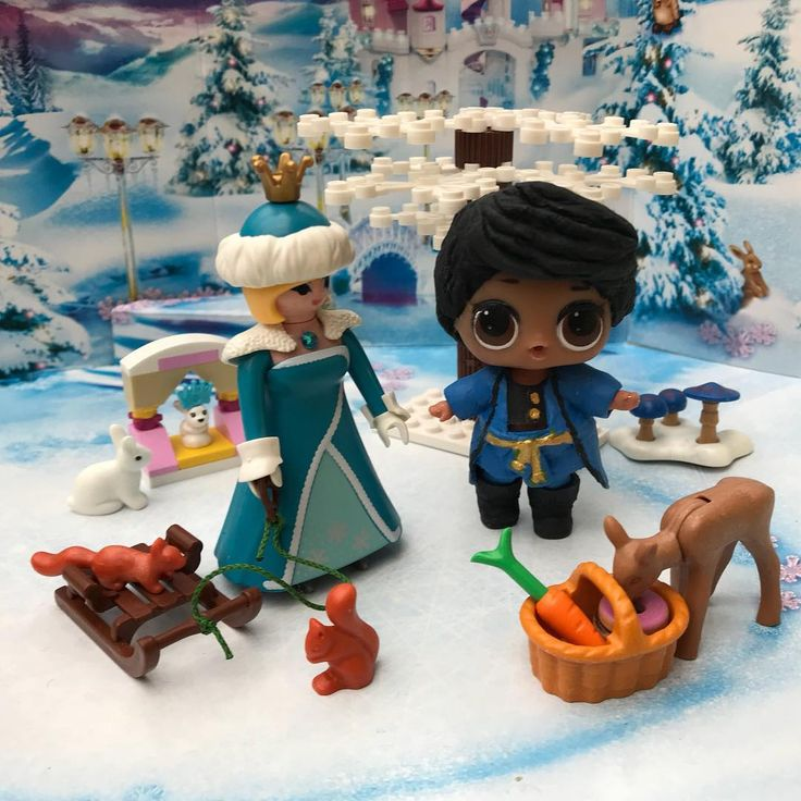 Ive heard you still havent found your prince but I can be your prince?  #lol #lolsurprise #babydoll #baby #doll #toys #playmobil #lego #toyphotography #legophotography #rabbit #deer #squirrel #donuts #basket #lolrepaints #customdoll #customize #winter #xmas #snow #winterscene #winter #scene #picoftheday #toyartistry #fun #girl #ice #christmas