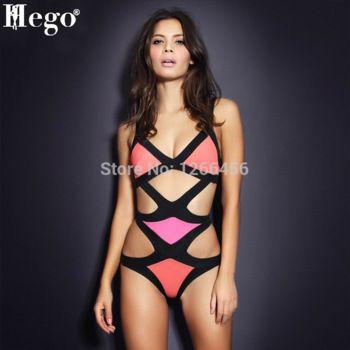 HLBandage 2 Piece Set Strap Cross Back Rayon Bikini Bandage Swimsuit CMtrQQeuEP