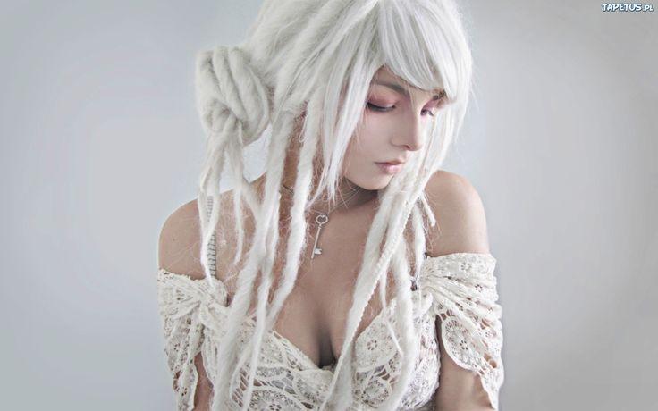 white dreds <3