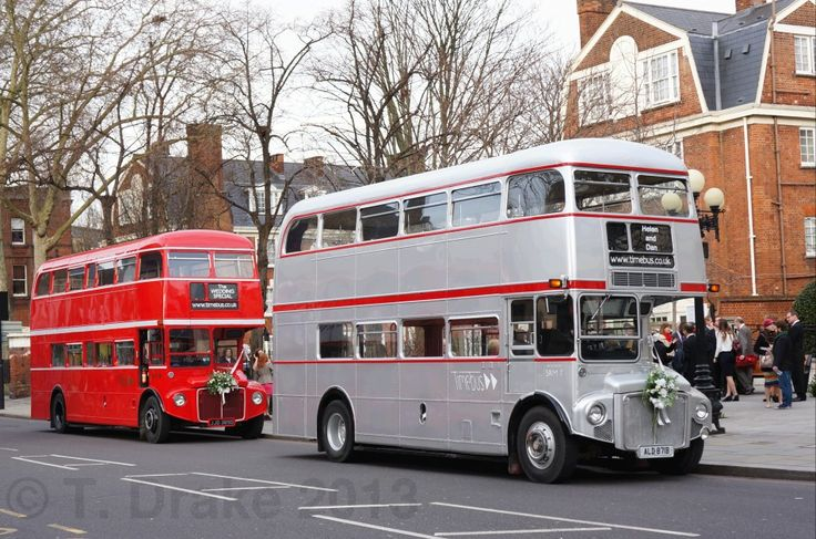 "Time Bus. Quintessential English type of transport. For more Alternative Wedding inspiration, check out the No Ordinary Wedding article ""20 Quirky Alternatives to the Traditional Wedding""  http://www.noordinarywedding.com/inspiration/20-quirky-alternatives-traditional-wedding-part-3"