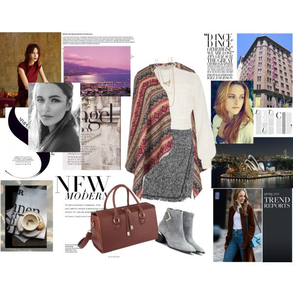 This is how we combine the season's mus have blanket scarf! With jacqaurd prints and warm hued bag, for special looks, while we choose more basic yet sleek choices to complete the look.