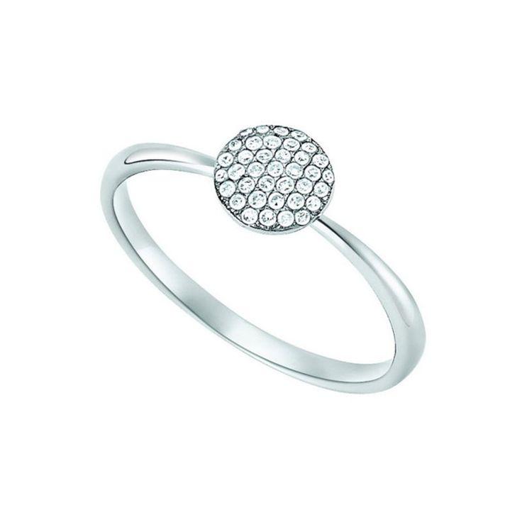 d'oro weißgoldener Ring mit Diamanten Der edle Ring ist aus 585 (14 Karat) Weißgold gefertigt und mit weißen Diamanten (zusammen circa  0,14  carat) in der Reinheit si (kleine Einschlüsse) ausgefasst. Die feine Fassung aus Weißgold bringt den Glanz der Diamanten sehr schön zur Geltung. Dieser Ring ist von dezenter Eleganz, zeitlos modern und ein stilvoller Begleiter zu vielen Anlässen.