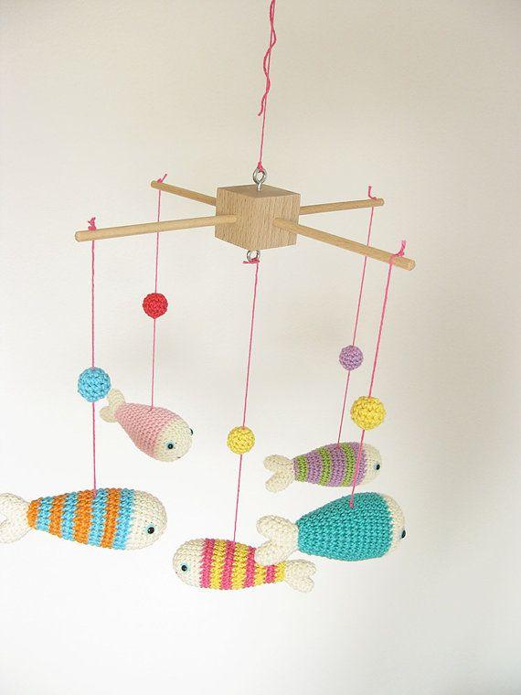 Uncinetto Mobile Amigurumi bambino cellulare pesce di cherrytime