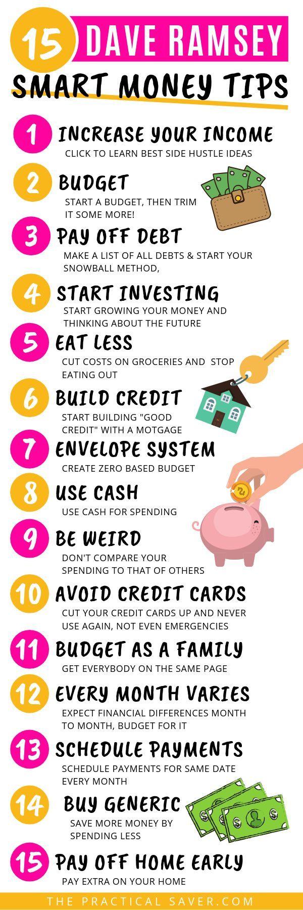 Dave Ramsey Tips: 15 Best Smart Money Tips – #Dave…
