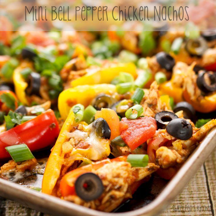 Mini Bell Pepper Chicken Nachos