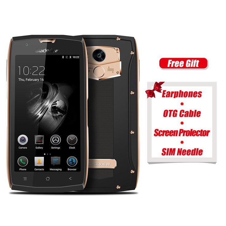 Blackview BV7000 Original 4G Smartphone 5.0 inch Android 7.0 1.5GHz Quad Core 2GB RAM 16GB ROM Fingerprint Scanner NFC OTG Phone. Show: 5.0 inch, 1920 x 1080 Pixel FHD Corning Gorilla Glass 3 screen CPU: MTK6737T 1.5GHz Quad Core Framework: Android 7.0 Slam + ROM: 2GB RAM + 16GB ROM Camera: 5.0MP front camera + 8.0MP, best offer