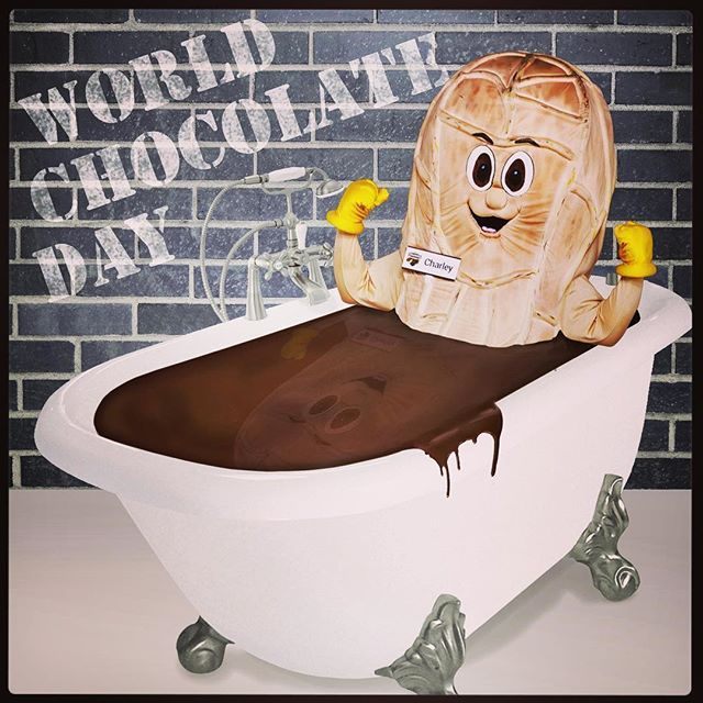 As you have probably already discovered, it's WORLD CHOCOLATE DAY today! Charley Peanut is quite happy celebrating in his chocolate bath! No need to actually bathe in it though, we have so many other delicious options in-store and online. What are you eating today? #worldchocolateday #chocolatelover #charleypeanut #charlesworthnutsmascot #southaustralia