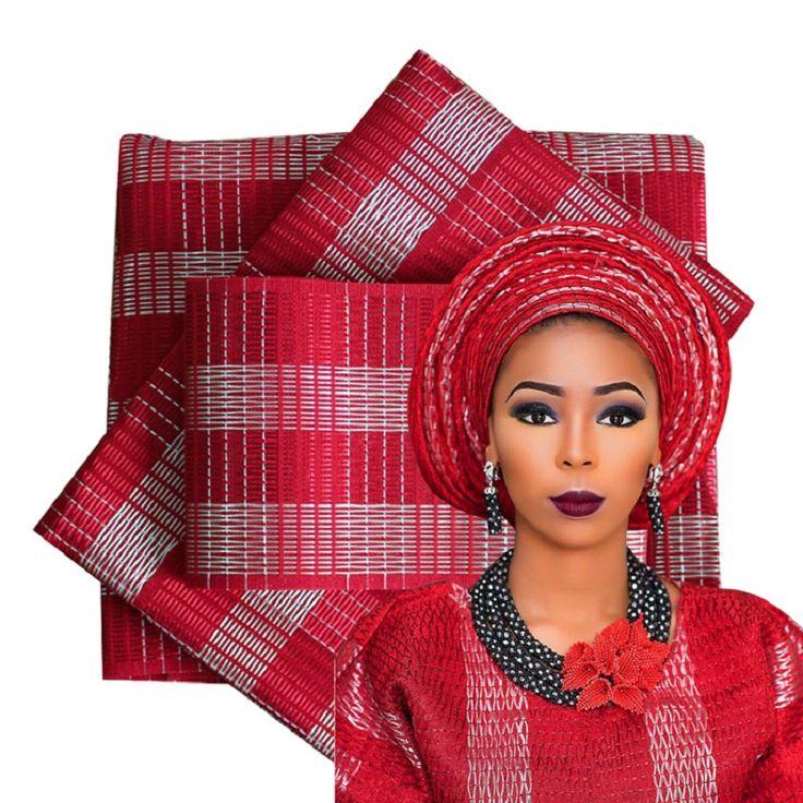 2016 Pakaian Tradisional Afrika Aso Oke untuk wanita Nigeria 3 PCS Kualitas Top 10 warna 81612231002