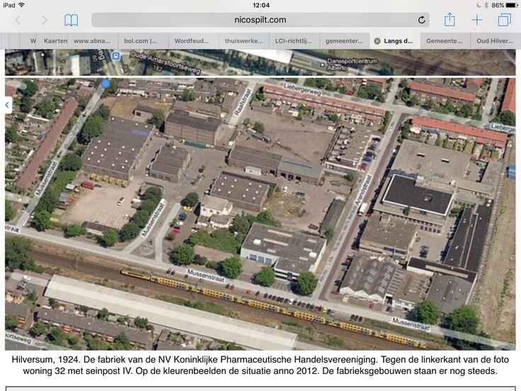 Luchtfoto gemeentewerf Hilversum