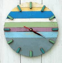 beach style wooden clock - Google Search