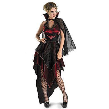 Disfraces+de+Cosplay+/+Ropa+de+Fiesta+Mago/Bruja+/+Angel+y+Diablo+/+Vampiros+Festival/Celebración+Traje+de+Halloween+Rojo+/+Negro+Cosecha+–+EUR+€+22.33