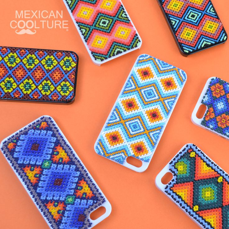 iPhone 4 and iPhone 5 cover case. Bead art made by Wixarika artisans! www.mexicancoolture.com