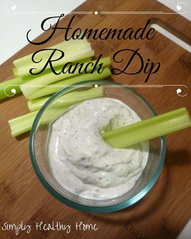 Homemade Ranch Dip Recipe - Simply Healthy Home