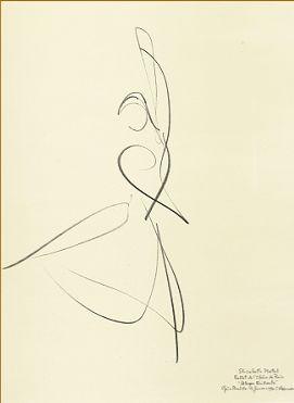 """Allegro Brillante"" Elisabeth Platel, 1996 Paris Opera Ballet by Stanley Roseman gestural line"