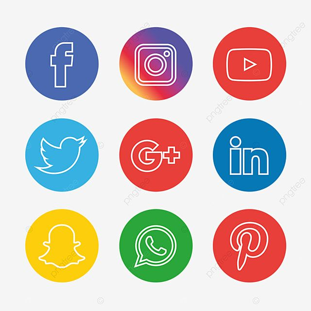 Social Media Icons Set Social Media Clipart Social Icons Icons Converter Png And Vector With Transparent Background For Free Download Social Media Icons Social Icons Media Icon