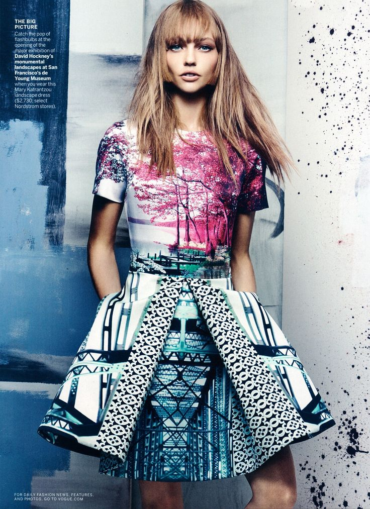 Designer Unknown. Reminds me a little of Peter Pilotto!