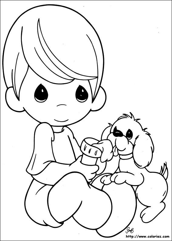 precious moments dog coloring pages - photo#19