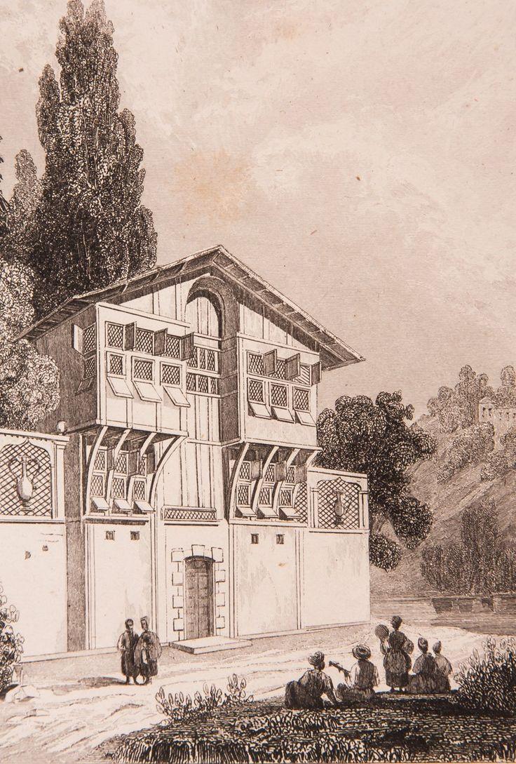 """İstanbul Evi Gravür-1840 yılında Jouannin tarafından hazırlanmış ve ahşap baskı tekniğinde basılmış """"La Turquie"""" adlı kitapta da kullanılmıştır (Paris 1840)."""