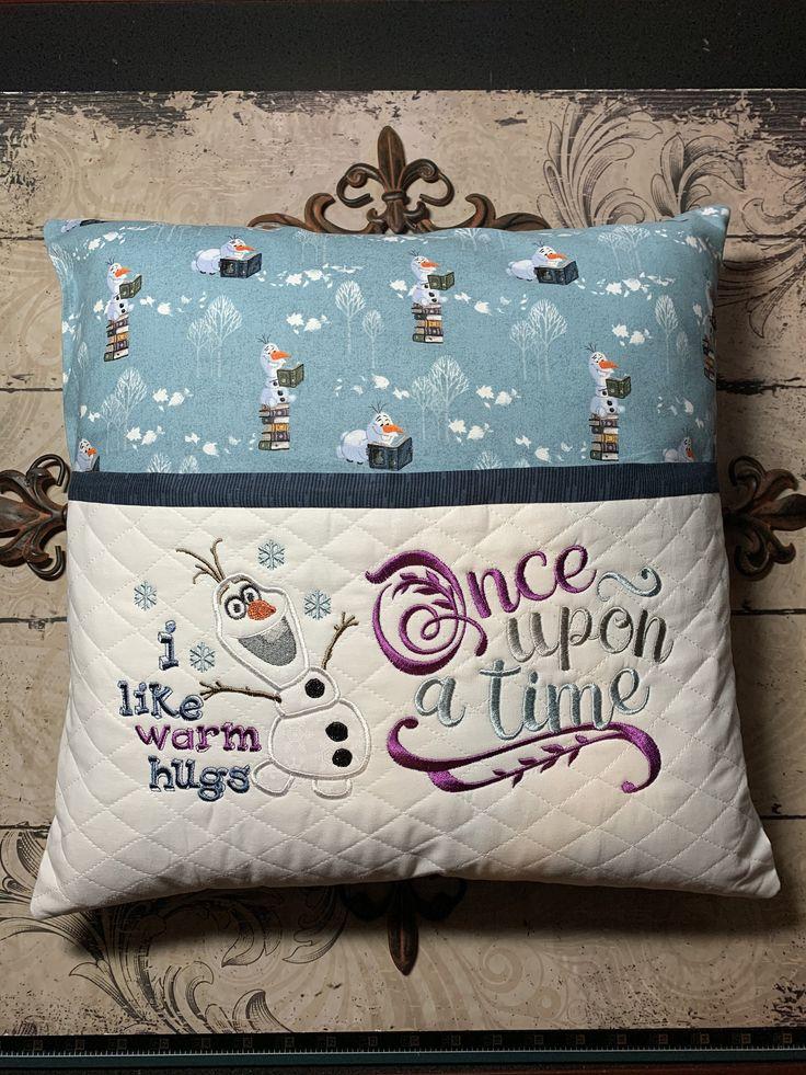 Frozen olaf elsa anna bookreading pillow book pillow