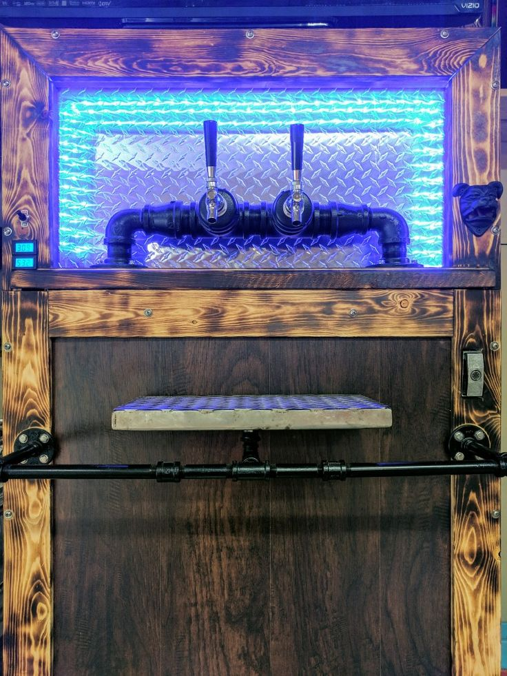 Man Cave Soda Machine converted to a dual keg fridge